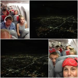 Leaving Orlando. Nå fikk ikke gutta oppgradering. Måtte sitte bak med oss vanlig dødelige.