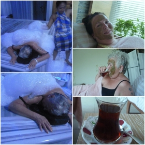 Så dro eg og mamma på Tyrkisk bad! Herlig!