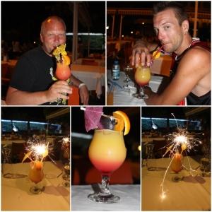 Fancy drinker (er nok min og Lene sin men gutta måtte jo smake)