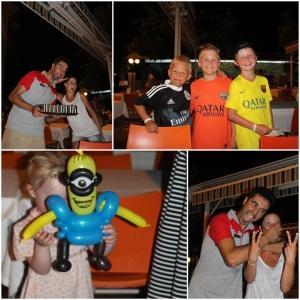 Minions!! Ballongkunstner på hotellet. en av kelnerne på hotellet. Og så de fineste gutta!