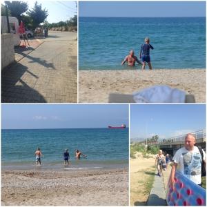 Tur på stranda... GLOVARM sand og brådypt..men oh well..