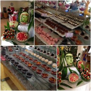 Dessert, frukt..deler av buffeten..