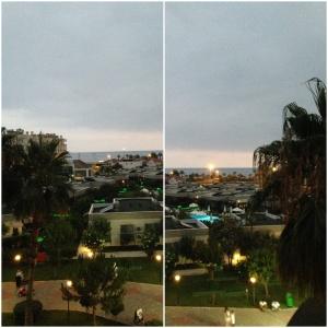 Utsikt fra rommet vårt..