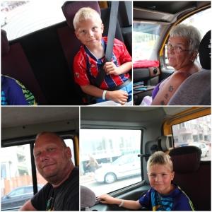 I taxi på vei opp til Alanya Castle!