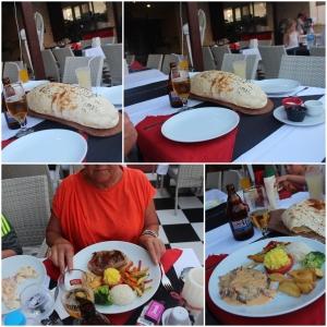 Ute å spiser på solsiden! med mer tyrkisk brød!