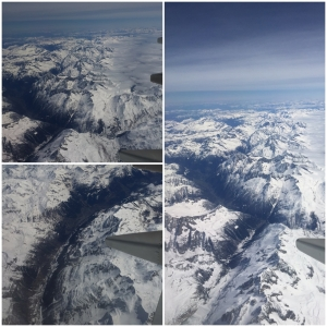 Flying over the Alps on my way to Italy
