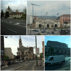 From the streets of Milan, exept the top right Picture witch is from the trainride.