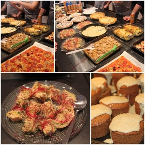 We made some Food! :D There was pizza, couscous, quiche, bruchetta, salmon, cupcakes, pie, potatogratin, chicken and a Whole lot more...
