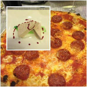 Out for dinner with Electrolux. Pizza!!! And dessert!